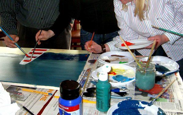 We schilderen ons team